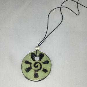 Jewelry - Ceramic Sun Pendant Necklace